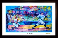 """Babe Ruth Yankees 11x17 """"The Babe"""" Signed Winford Lithograph (Winford COA)"""