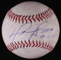 """David Ortiz Signed OML Game-Used Baseball from 500th Home Run Game Inscribed """"500 HR"""" & """"9-12-15"""" (Fanatics & MLB Hologram)"""