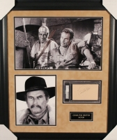 Charlton Heston Signed 23x27 Custom Framed Index Card Display (PSA Encapsulated) at PristineAuction.com