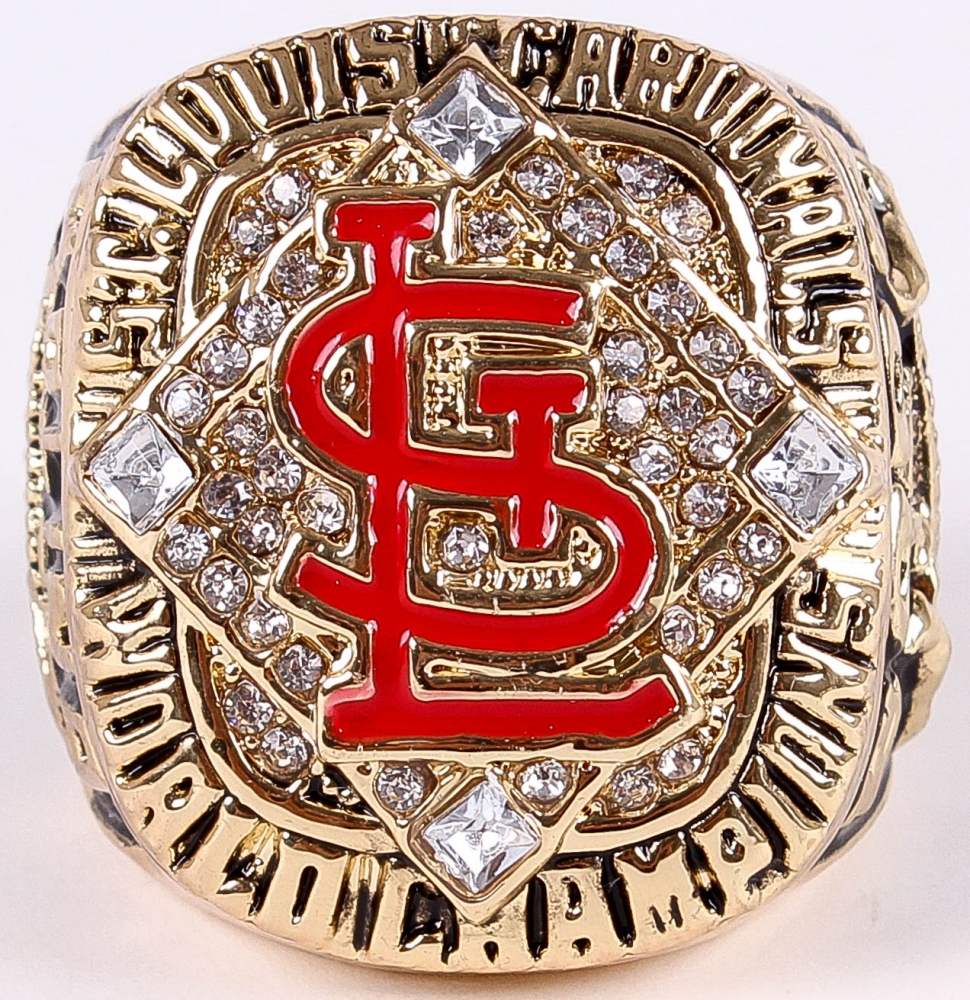 Yadier Molina St Louis Cardinals High Quality Replica 2006 World Series Championship Ring At PristineAuction