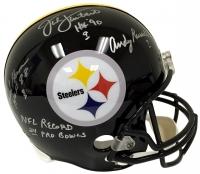 "Jack Lambert, Jack Ham & Andy Russell Signed Steelers Full-Size Helmet Inscribed ""HOF 88"", ""NFL Record 24 Pro Bowls"" & ""HOF 90"" (JSA COA)"