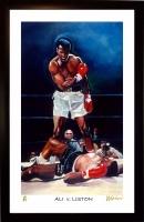 "Muhammad Ali vs. Sonny Liston 11x17 ""Ali V. Liston"" Signed Winford Limited Edition Lithograph #/99 (Winford COA)"