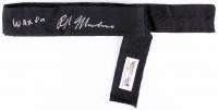 "Ralph Macchio Signed ""Karate Kid"" Black Belt Inscribed ""Wax On"" (Radtke COA)"