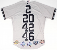 "Derek Jeter, Mariano Rivera, Andy Pettitte & Jorge Posada Signed Yankees ""Core Four"" Majestic Authentic Jersey Limited Edition #1/27 (Steiner COA)"