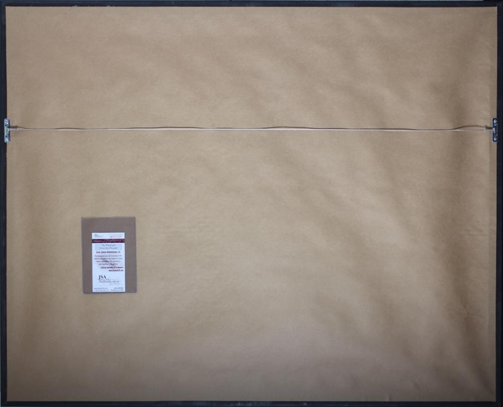randy moss signed vikings 35x43 custom framed jersey jsa coa at pristineauctioncom