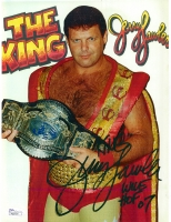 "Jerry Lawler Signed 8x11 Photo Inscribed ""King"" & ""WWE HOF 07"" (JSA COA)"
