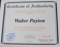 Walter Payton Signed Bears 35x43 Custom Framed Jersey with (5) Inscriptions (Payton COA) at PristineAuction.com