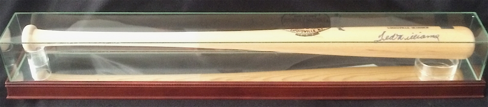 ted williams signed custom engraved game model louisville slugger baseball bat with high quality display case