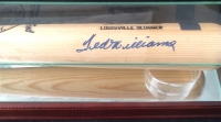 Ted Williams Signed Custom Engraved Game Model Louisville Slugger Baseball Bat with High Quality Display Case (PSA & Williams Hologram)
