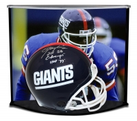 "Lawrence Taylor Signed LE Giants Full-Size Authentic Pro-Line Helmet Inscribed ""2X SB Champs"" & ""HOF 99"" with Custom Curve Display Case (Steiner COA)"