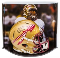"Jameis Winston Signed LE Florida State Seminoles Full-Size Authentic On-Field Speed Helmet Inscribed ""Heisman 13"" with Custom Curve Display Case (Steiner COA)"