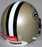 "Drew Brees Signed LE Saints Full-Size Authentic Pro-Line Helmet Inscribed ""SB XLIV MVP,"" ""288 Yds"" & ""2 TDs"" With Custom Curve Display Case (Steiner COA & Brees Hologram) at PristineAuction.com"