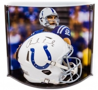 Andrew Luck Signed Indianapolis Colts Full-Size Authentic On-Field Speed Helmet with Custom Curve Display Case (Panini COA)