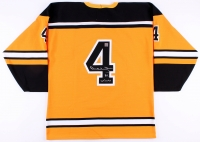Bobby Orr Signed Bruins Limited Edition Rookie Game Model Jersey with 50th Anniversary Patch #/144 (Orr COA)