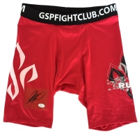 Georges St-Pierre Signed MMA Trunks (JSA COA)