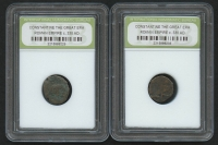 Lot of (2) Constantine The Great Era Roman Empire Coins From 330 AD (INB Encapsulated)