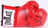 "Floyd Mayweather Sr., Roger ""Black Mamba"" Mayweather & ""Jazzy"" Jeff Mayweather Signed Everlast Boxing Glove (The Players Locker Hologram) at PristineAuction.com"