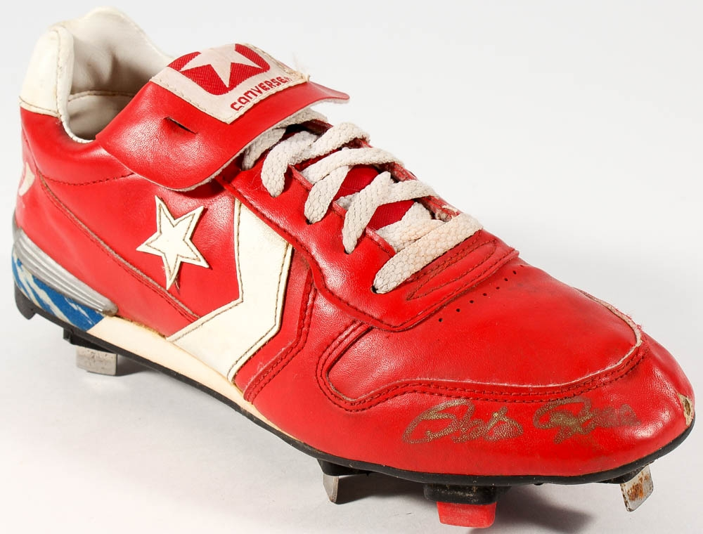d092e98a3 Pete Rose Signed Vintage Converse Baseball Cleat with Display Case (PSA COA)  at PristineAuction