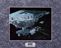 Star Wars The Empire Strikes Back 1994 Limited Edition Chromium Print: Millennium Falcon's Escape (Lucasfilm COA) at PristineAuction.com