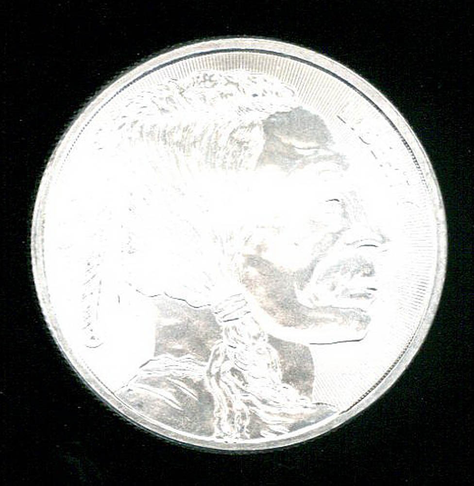 Indian Head Buffalo 1 Troy Ounce 999 Silver Coin