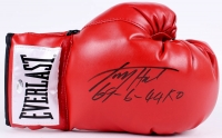"Larry Holmes Signed Everlast Boxing Glove Inscribed ""69 - 6 - 44 KO"" (Schwartz COA)"