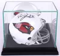 Premium Mini-Helmet Glass Display Case with Black Suede Black Wood Base & Mirrored Back