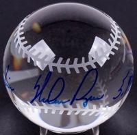 "Nolan Ryan Signed Lead Crystal Baseball Inscribed ""324 Wins"" & ""5,714 K's"" (JSA COA)"