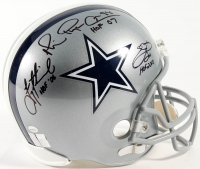 Emmitt Smith, Troy Aikman & Michael Irvin Signed Cowboys Full-Size Helmet with HOF Inscriptions (Smith, Irvin & Aikman Holograms)