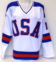 """Mark Pavelich Signed Team USA """"Miracle on Ice"""" Jersey (JSA COA) at PristineAuction.com"""