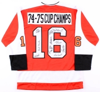 """Multi-Signed Flyers """"74-75 Cup Champs"""" Jersey with (11) Signatures Including Bobby Clark, Bill Barber, Bernie Parent (JSA COA)"""