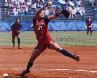 "Jennie Finch Signed Team USA 16x20 Photo Inscribed ""04' US Gold"" (JSA COA)"