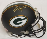 Brett Favre Signed Packers Black Matte Authentic Helmet at PristineAuction.com