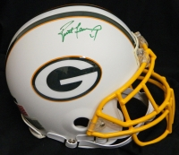 Brett Favre Signed Packers White Matte Authentic Helmet at PristineAuction.com