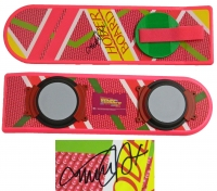 Michael J Fox Signed Back To The Future Part II Pink Hover Board at PristineAuction.com