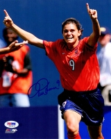 Mia Hamm Signed USA Soccer Celebration 8x10 Photo at PristineAuction.com