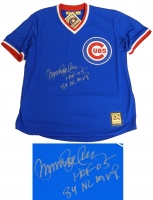 Ryne Sandberg Signed Cubs Blue Throwback Cooperstown Collection Jersey w/HOF'05, 84 NL MVP at PristineAuction.com