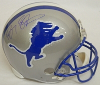 Barry Sanders Signed Lions Riddell Throwback Authentic Proline Helmet at PristineAuction.com