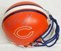 Brian Urlacher Signed Bears Custom Orange Matted Pro Helmet w/Monsters of the Midway at PristineAuction.com