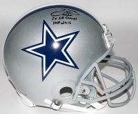 "Emmitt Smith Signed Cowboys Full-Size Authentic Pro-Line Helmet Inscribed ""3x SB Champs"" & ""HOF 2010"" Limited Edition #22/22 (Steiner COA)"
