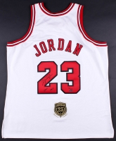 "Michael Jordan Signed LE Mitchell & Ness Authentic Bulls Jersey With Hall of Fame Patch Inscribed ""2009 HOF"" (UDA COA)"