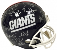 1986 New York Giants Full-Size Helmet Team-Signed by (26) with Phil Simms, Lawrence Taylor, Mark Bavaro, Ottis Anderson, Perry Williams, Carl Banks (JSA COA)
