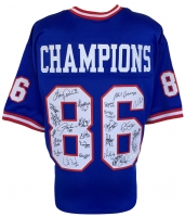 1986 New York Giants Jersey Team Signed By (26) with Phil Simms, Lawrence Taylor, Mark Bavaro, Ottis Anderson, Byron Hunt, Harry Carson (JSA COA)