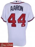 Hank Aaron Signed Braves Majestic Jersey (JSA)