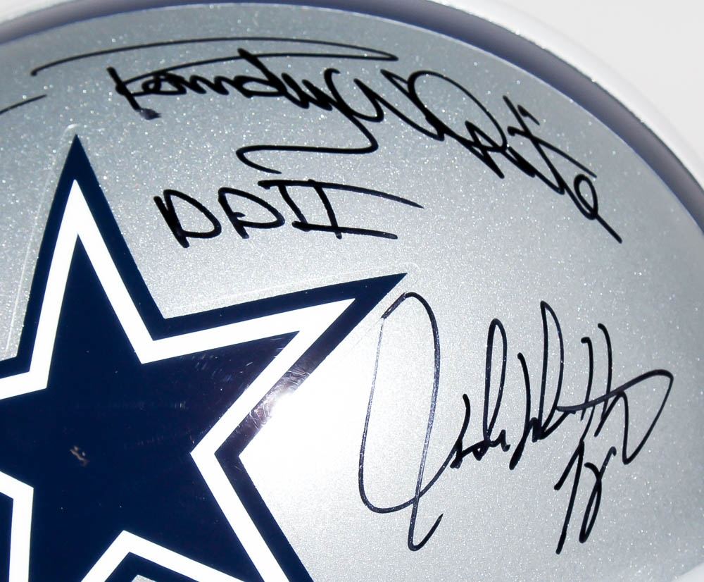 "Multi-Signed Cowboys Full-Size Helmet with (6) Signatures Including Randy White, Larry Cole, Bob Lilly, Ed ""Too Tall"" Jones, George Andrie & John Dutton Inscribed ""DDI"" & ""DDII"" (JSA COA)"