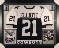 Ezekiel Elliott Signed Cowboys 35x43 Custom Framed Jersey (JSA COA)