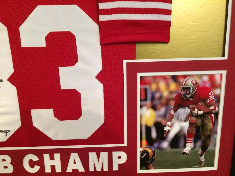 e209fffdc Roger Craig Signed 49ers 35x43 Custom Framed Jersey Inscribed
