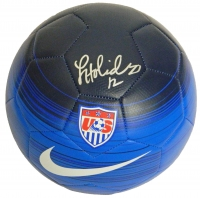 Lauren Holiday Signed USA Blue Nike Soccer Ball at PristineAuction.com