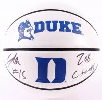 """Jahlil Okafor Signed Duke Blue Devils Logo Basketball Inscribed """"2015 Champs"""" (Schwartz COA)"""
