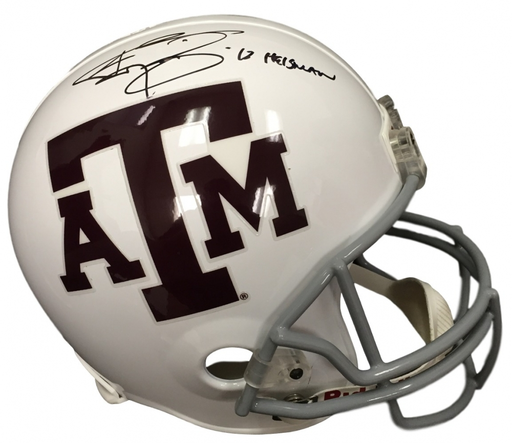 Johnny Manziel Signed Texas A&M Aggies Full-Size Helmet Inscribed
