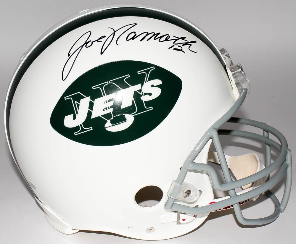 Joe Namath Signed Jets Full-Size Authentic Pro-Line Helmet (Steiner COA) 8289c2f95